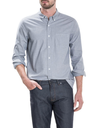 Melange Puppytooth Twill Shirt
