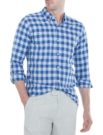 Linen Cotton Bold Gingham Shirt