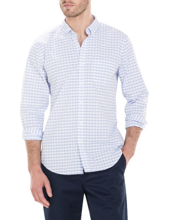 Cotton Textured Gingham Shirt