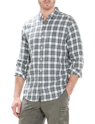 Linen Cotton Guard Check Shirt