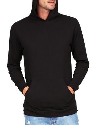 Long Sleeve Pop Hood Black