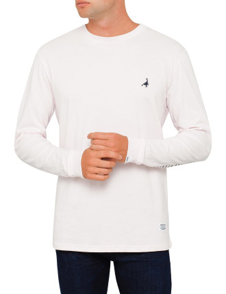 Polo Ls Tee Washed Pink