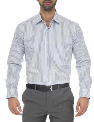 Patrick Classic Fit - Cotton/Polyester Stripe Shirt