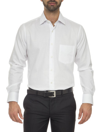Benedict Classic Fit - Cotton/Polyester White Shirt