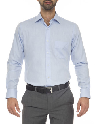 Alec Classic Fit - Cotton/Polyester Blue Shirt