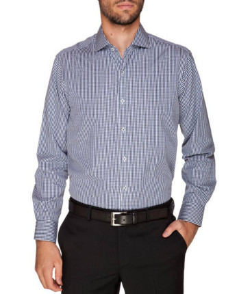 Casey Extra Slim Fit - Pure Cotton Easy Iron Navy Shirt