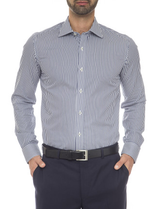 Danny Extra Slim Fit - Swiss Cotton Stripe Shirt