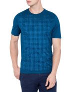 Short Sleeve Check Print T Shirt $165.00
