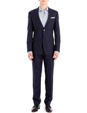 2b Sb Sv Fl Fr Wool Fine Stripe Peak Suit