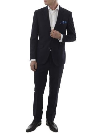 Wool/Pol Check Notch Suit