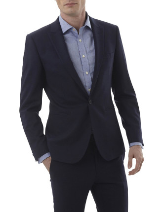Wool/Pol Dobby Peak Suit