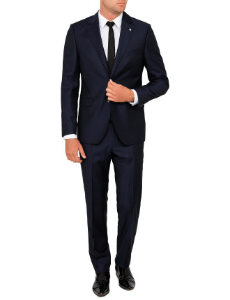 Wool Semi Plain Text Suit