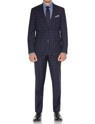 Wool Tonal Pow Check Suit