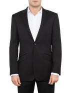Two Button Serge Plain Suit Jacket $299.00