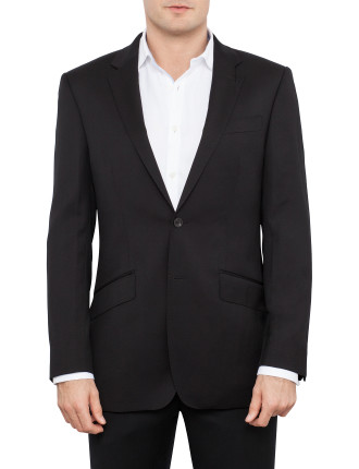 Two Button Serge Plain Suit Jacket