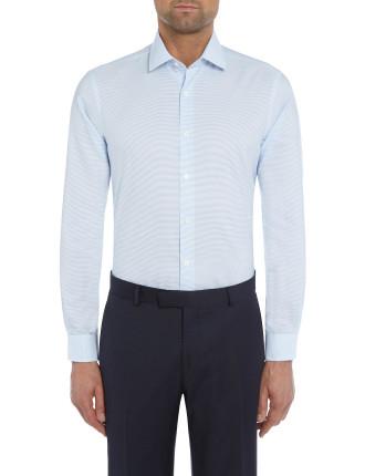 Horizontal Stripe Single Cuff Shirt