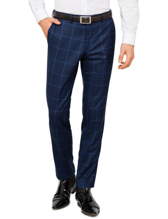WOOL CHECK TROUSER