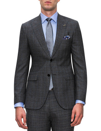 WOOL FULL CANVAS CHECK SUIT