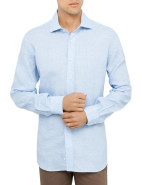 Linen Textured Stripe Shirt $69.00