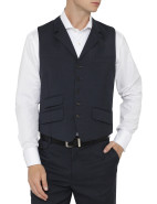 Kingdon Micro Check Wool Vest $199.00