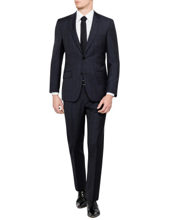 Kennedy Wool Text Check Suit