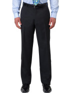 Flat Front Wool/Pol Twill Plain Trouser $189.00