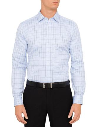 Cotton Dobby Wind Check Shirt