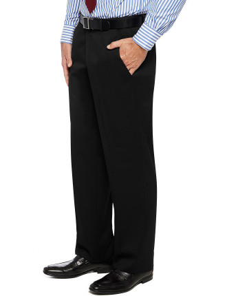 Fl Fr Wool/Pol/Elast Plain Flexi Trouser