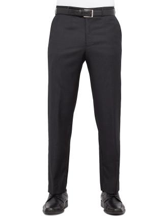 Flat Front Wool Blend Multi Stripe Trouser