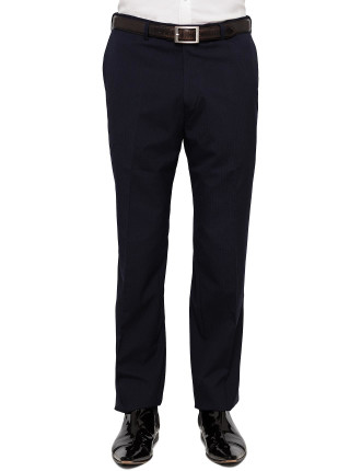 Flat Front Graph Check Trouser