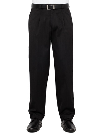Single Pleat Wool Blend Trouser