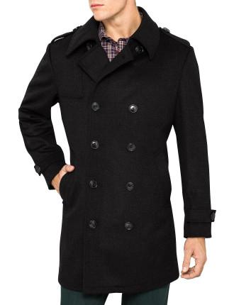 Tonal Check Overcoat