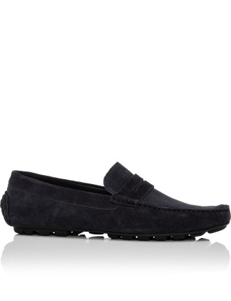 Suede Leather Rubber Sole Driver Shoe