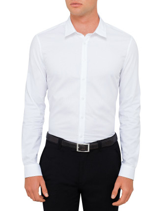 Cotton Pinpoint Oxford Plain Shirt