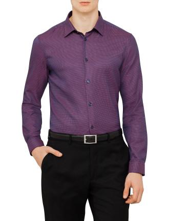 Cotton Dobby Diag Neat Shirt