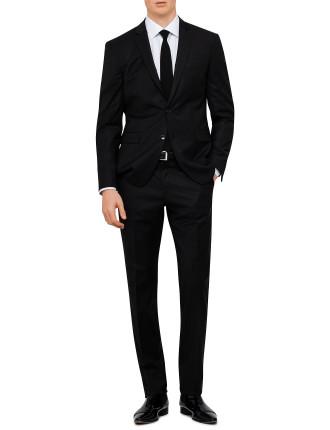 Wool Natural Stripe Plain Suit