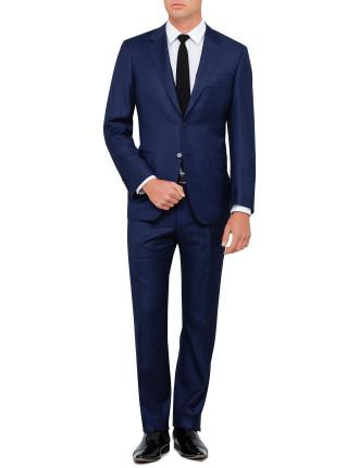 Wool 130 Fine Blue Stripe Suit