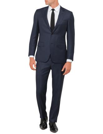 Wool Text Plain Peak Suit