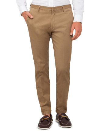 Cotton/Elast Plain Chino