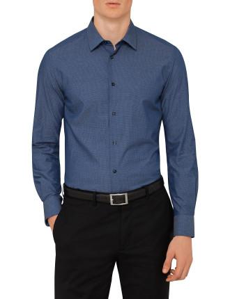 Cotton Chamb Neat Print Shirt