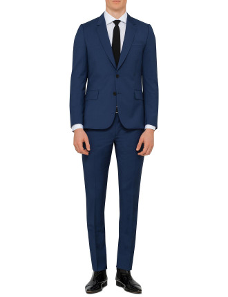 Wool/Mohair Plaiin Suit