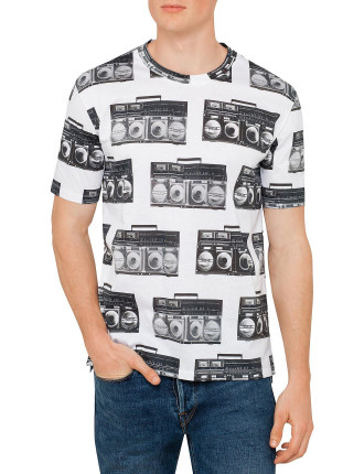 Cotton Ghetto Blast Print  T Shirt