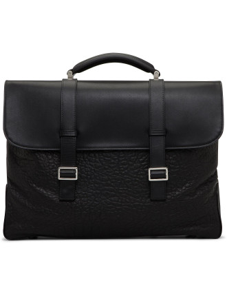 Leather Calfskin And And Stamp Briefbag