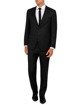 Wool Herringbone Plain Suit