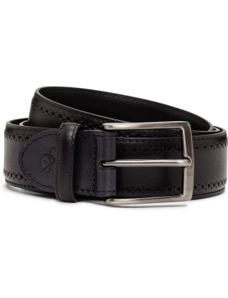 Leather Buffed Perforated Belt