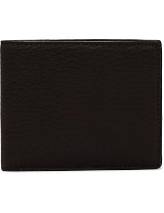 Leather Stamp 8 Credit Card Slot Wallet