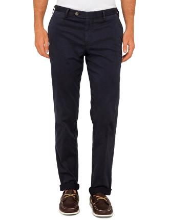 Cotton/Elast Twill Plain Trouser