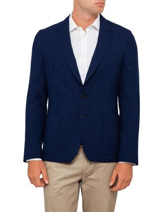 Wool Waffle Plain Unlined Jacket