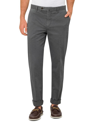 Flat Front Plain Chino Trouser