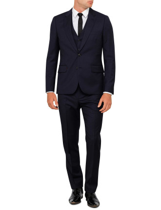 Wool  Micro Check 3piece Suit